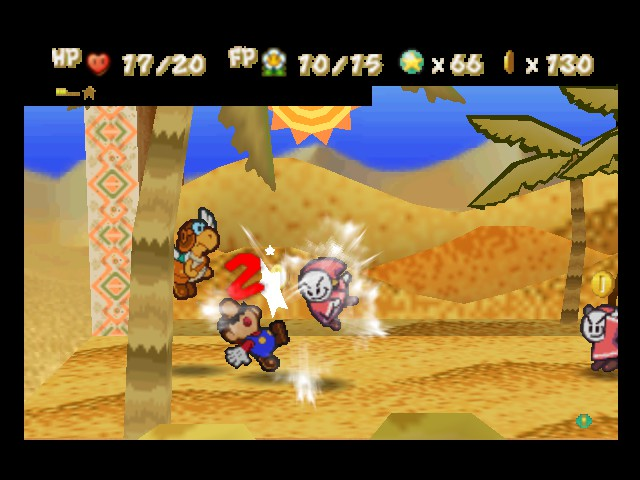 Paper Mario - Battle  - Nice hit! - User Screenshot